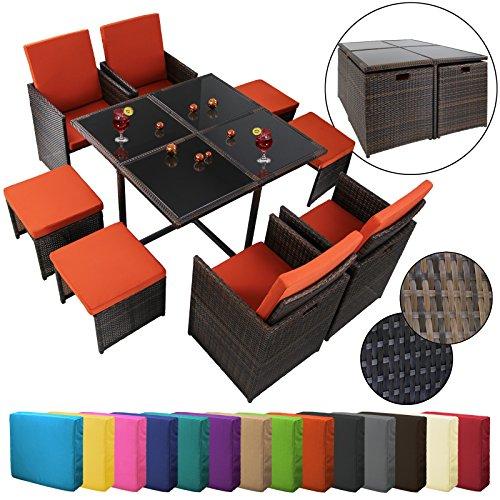 17 teilige luxus rattan sitzgruppe bellini mit 4 st hlen 4 hockern und 1 tisch m bel24. Black Bedroom Furniture Sets. Home Design Ideas