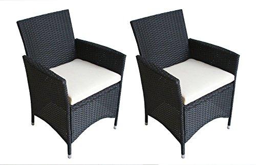 2er set polyrattan rattan st hle stuhl gartenstuhl sessel garten schwarz m bel24 gartenm bel. Black Bedroom Furniture Sets. Home Design Ideas