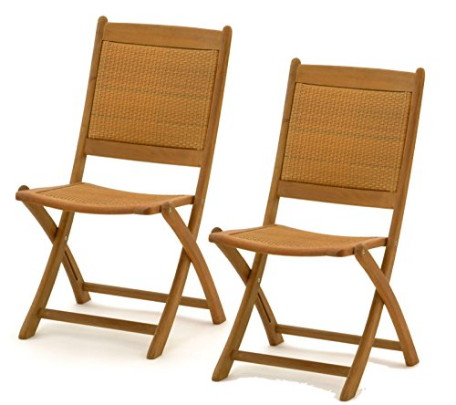 2x belardo hartholz rattan garten holz stuhl gartenstuhl. Black Bedroom Furniture Sets. Home Design Ideas