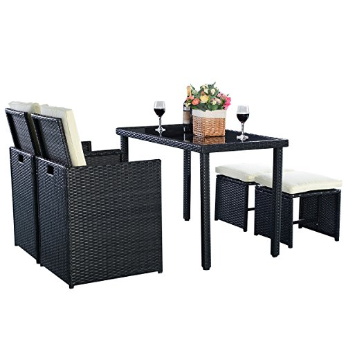 5tlg polyrattan set sofa gartenm bel rattanm bel gartengarnitur gartensitzgruppe gartenset. Black Bedroom Furniture Sets. Home Design Ideas