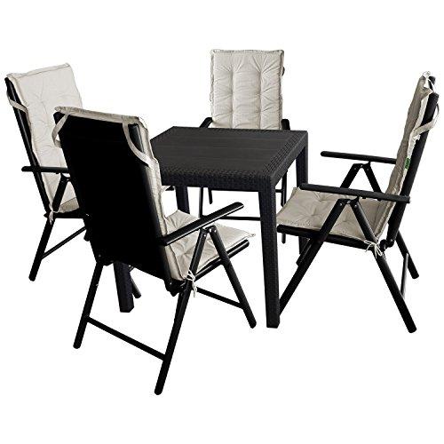 9tlg gartengarnitur sitzgruppe balkonmbel terrassenmbel gartenmbel set gartentisch kunststoff. Black Bedroom Furniture Sets. Home Design Ideas