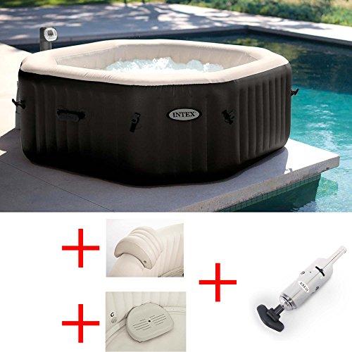 ANGEBOT Schwimmbad Whirlpool Intex ø201X H71cm + Kopfstützen + Kindersitz + Reiniger
