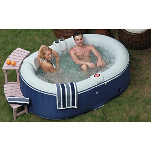 AQUAPARX Whirlpool AP-550SPA *oval 190x120cm* Pool 2Personen Wellness Jacuzzi Spa Whirlpoolzubehör Badewanne 2P Wanne Indoor Outdoor Heizung aufblasbar
