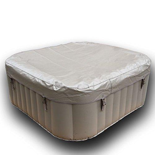 AQUAPARX Whirlpool AP-600SPA SQUARE *rechteckig 155x155cm* Pool 4Personen Wellness viereckig Jacuzzi Spa quadratisch 4P Whirlpoolzubehör Badewanne Wanne Indoor Outdoor viereck Heizung aufblasbar