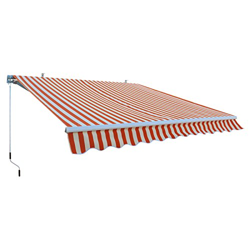 DEMA Alu-Markise orange/weiß 3 x 2,5 m