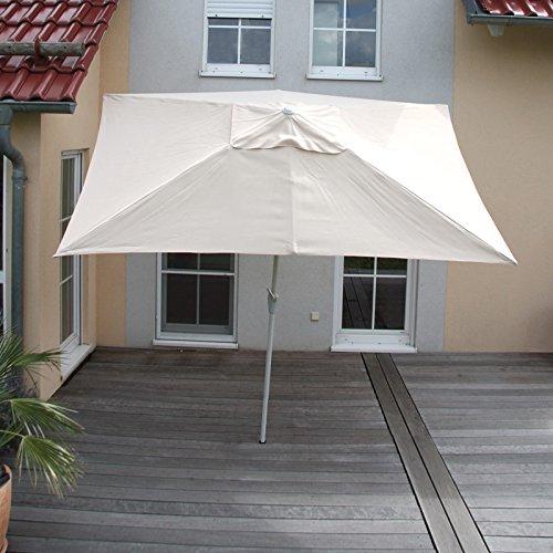 alu sonnenschirm gartenschirm n23 2x3m rechteckig neigbar rostfrei creme m bel24. Black Bedroom Furniture Sets. Home Design Ideas