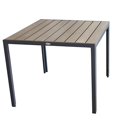 aluminium gartentisch 90x90cm esszimmertisch esstisch kchentisch alutisch aluminiumtisch mit. Black Bedroom Furniture Sets. Home Design Ideas