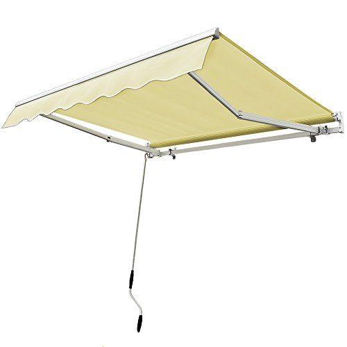 Aluminium Markise elfenbeinweiß - ALU Markise Sonnenschutz Kassettenmarkise Gelenkarmmarkise Sonnensegel
