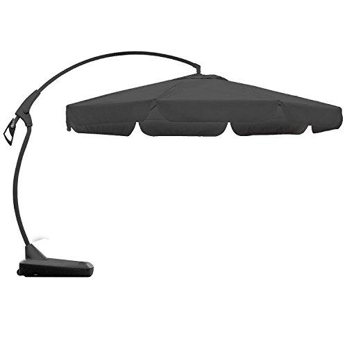 ampelschirm sonnenschirm gartenschirm kurbelschirm st nder 3 5m sonnenschutz grau schwarz. Black Bedroom Furniture Sets. Home Design Ideas
