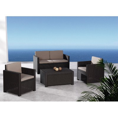Best 96114210 4 teilig loungegruppe menorca braun for Best moebel24