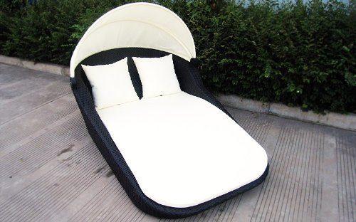 Baidani-Design Rattan Lounge-Doppel-Liege Sunray