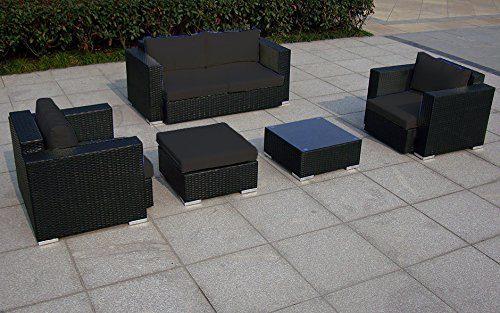 Baidani Garten Lounge Garnitur Flachrattan, Sun Dream Select, 160 x 85 x 93 cm