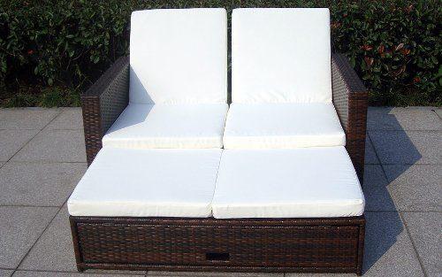 Baidani Multifunktionale Rattan Doppelliege/Sofa Harmony
