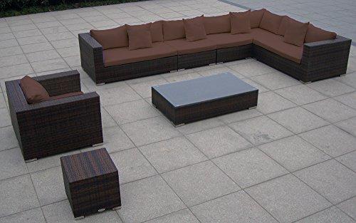 baidani rattan garten lounge garnitur blizzard braun. Black Bedroom Furniture Sets. Home Design Ideas