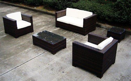 Baidani Rattan Lounge Sitzgruppe Infinity