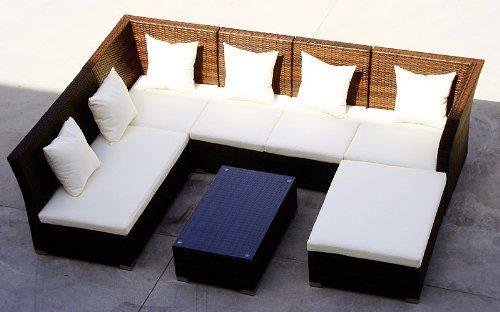 Baidani Rattan Lounge Sitzgruppe Thunder