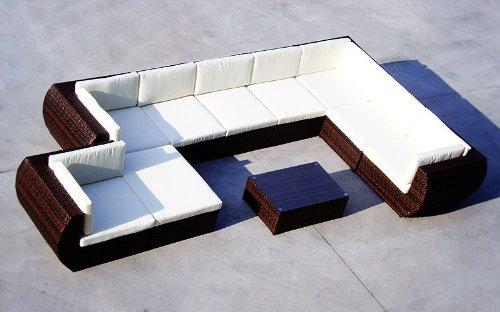 Baidani XXXL Rattan Lounge-Garnitur Extreme, 31-teilig