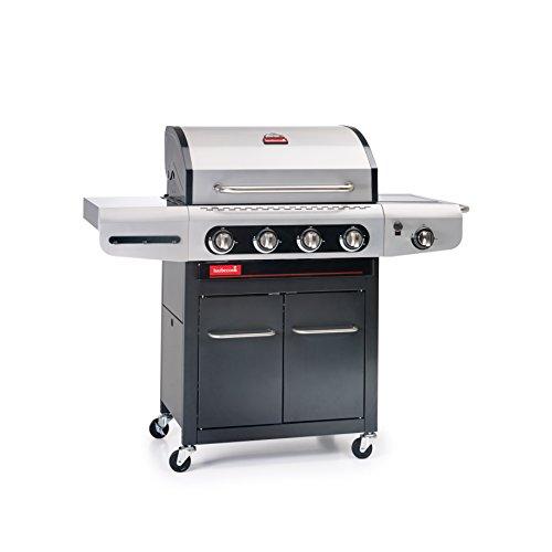 Barbecook Gasgrill Siesta 412 ohne Plancha, grau, 142 x 55,6 x 118 cm, 2239241202