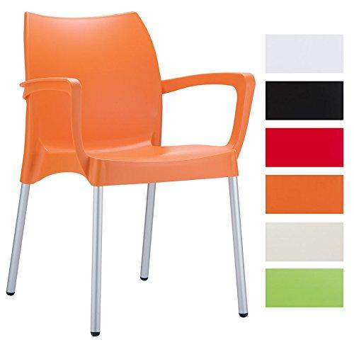 clp bistrostuhl gartenstuhl mit armlehnen dolce xxl 160 kg max belastbarkeit stapelbar. Black Bedroom Furniture Sets. Home Design Ideas