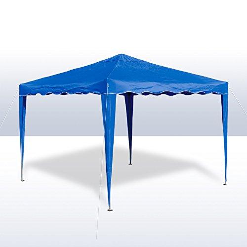 DEMA Alu/Metall Faltpavillon 3x3 Meter Hellblau