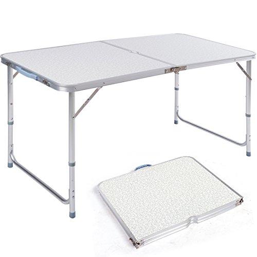 dxp campingtisch aus aluminium gartentisch h henverstellbarer klapptisch koffertisch 120 x 60 cm. Black Bedroom Furniture Sets. Home Design Ideas