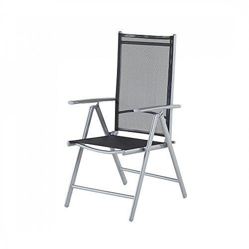 Eleganter Aluminium Gartenstuhl - Stuhl - Sessel - CATANIA