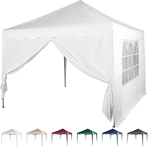 faltpavillon 3 3 m mit 2 seitenteilen wasserdicht farben whlbar inkl tragetasche zubehr. Black Bedroom Furniture Sets. Home Design Ideas