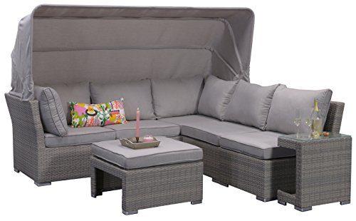 Garden Impressions 07198GT Lounge Set, Kuba Shadow, 226 x 221 x 75 cm, Grau