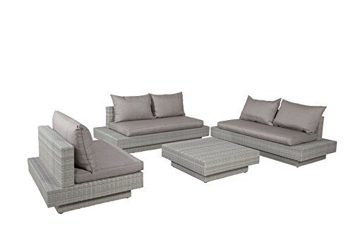 Garden Impressions Lounge Set Eliston Shadow Grey, 4-teilig