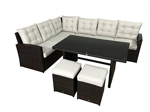 garten lounge la palma in braun sitzecke mit esstisch. Black Bedroom Furniture Sets. Home Design Ideas