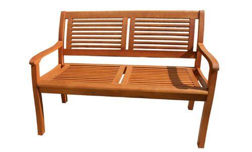 Gartenbank Eukalyptus 2 Sitzer Holzbank