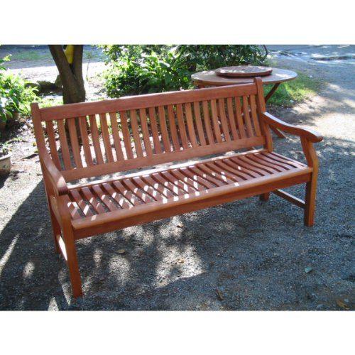 Gartenbank NEW JERSEY, 3-Sitzer, Holzbank aus Hartholz Eukalyptus 100% FSC