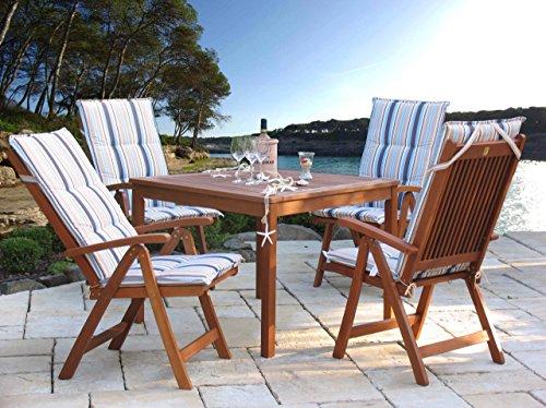 gartenm bel 9tlg mit 90cm tisch balkonm bel santos marine. Black Bedroom Furniture Sets. Home Design Ideas