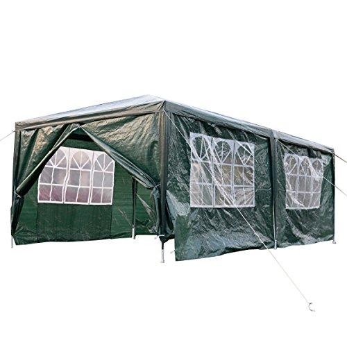 Gartenpavillon Partyzelt Pavillon XXL 3 x 6 m Gartenzelt Hochzeit Festzelt Zelt mit Fenster Farbwahl