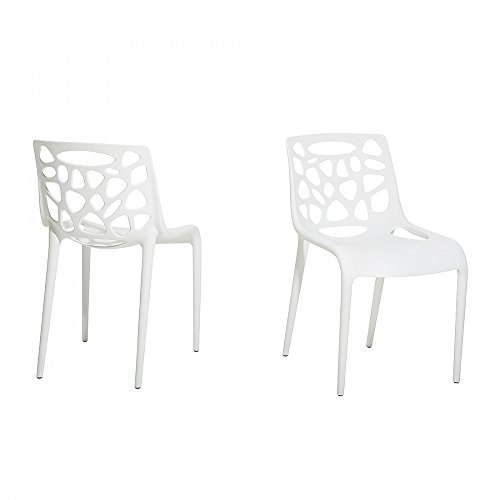 Gartenstuhl - Plastikstuhl weiss - Stuhl aus Kunststoff - MORGAN
