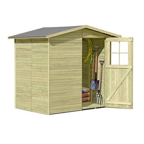 Gerätehaus aus Holz Modell Frankfurt 180 x 145 cm von Gartenpirat®
