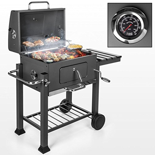 grillwagen xxl mobiler holzkohlegrill mit belftung 117 x 56 x 1185 cm rauchfreier bbq grill. Black Bedroom Furniture Sets. Home Design Ideas