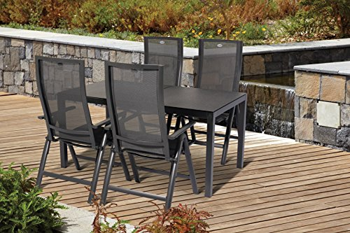 hartman alu gartenset gartenstuhl gartentisch 5 tlg 4 klappsessel 1 tisch adelaide gartenm bel. Black Bedroom Furniture Sets. Home Design Ideas