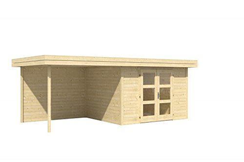 Holz-Blech Gartenhaus Chatel 5 mit Freisitz