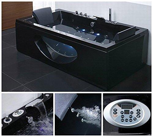 Home Deluxe Whirlpool Laguna M schwarz, inkl. vielen Extras