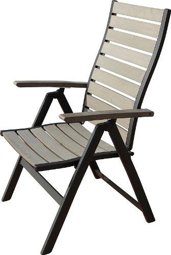 ib style hochlehner klappstuhl 7 pos diplomat polywood aluminium polywood nature grey. Black Bedroom Furniture Sets. Home Design Ideas