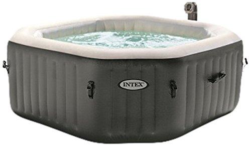 Intex 28414 Pure SPA Octagon - Bubble mit integriertem Kalkschutzsystem, 79 Zoll