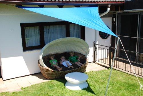 jarolift sonnensegel dreieck sonnenschutzsegel wasserabweisend gr e und farbe nach wahl. Black Bedroom Furniture Sets. Home Design Ideas