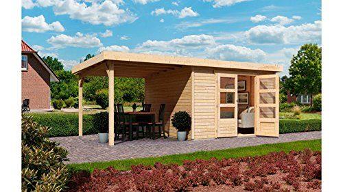 KARIBU Gartenhaus Arnis 2, BxT: 213x217 cm, mit Schleppdach (ca. 220 cm breit) Natur