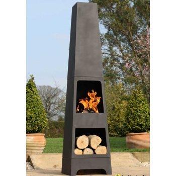 La Hacienda Terrassenofen/ -heizung mit Holzspeicher aus Stahl, 150 cm