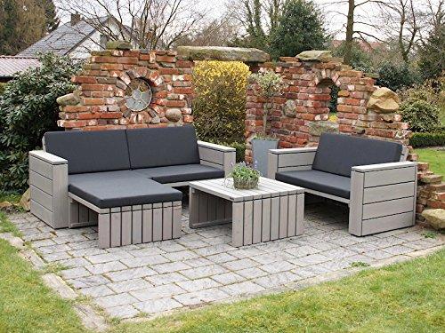 Loungemöbel Set 7 Holz, inkl. Polster - Lieferung komplett montiert