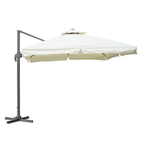 luxus ampelschirm faro sonnenschirm neigbar drehbar 360. Black Bedroom Furniture Sets. Home Design Ideas