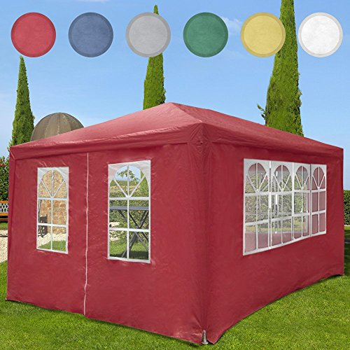 Miadomodo Festzelt Pavillion Partyzelt Gartenpavillon inkl. 4 Seitenwände 4 x 3 x 2,5 cm wasserabweisend mit Farbwahl