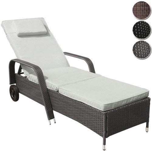 miadomodo hochwertige polyrattan sonnenliege gartenliege inkl auflage kopfkissen l nge ca. Black Bedroom Furniture Sets. Home Design Ideas