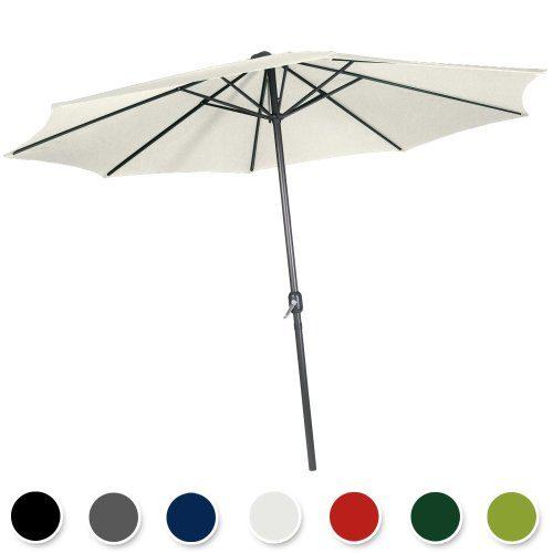 Miadomodo Sonnenschirm Sonnenschutz mit Handkurbel, wasserabweisend in der Farbe und Größe Ihrer Wahl (Durchmesser: ca. Ø 2,5 m, ca. Ø 3 m oder ca. Ø 3,5 m )